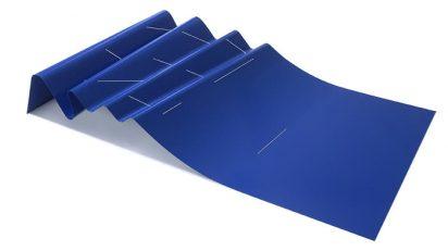 Sebastián Nicolau. Blue -Painted still- 28 x 193 x 110 cm.