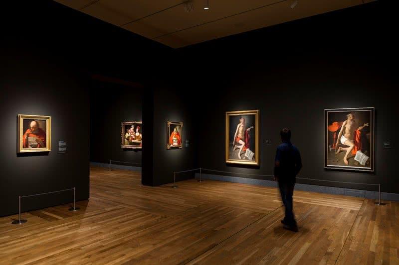 """Imagen en sala de la exposición """"Georges de La Tour. 1593-1652"""". Foto © Museo Nacional del Prado."""