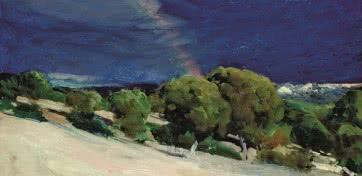 Joaquín Sorolla. El arcoiris. El Pardo, 1907.