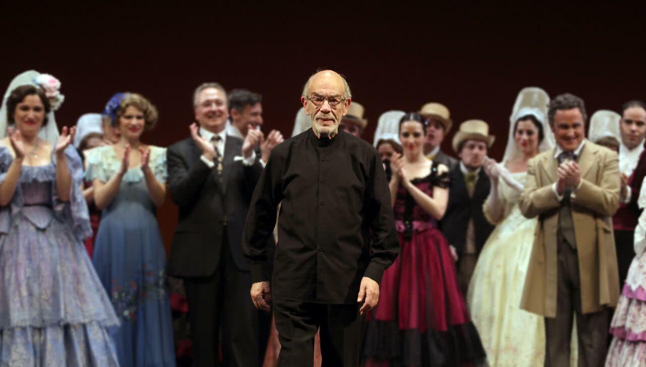 Miguel Roa en su homenaje en los Teatros del Canal. Foto: Jaime Villanueva.