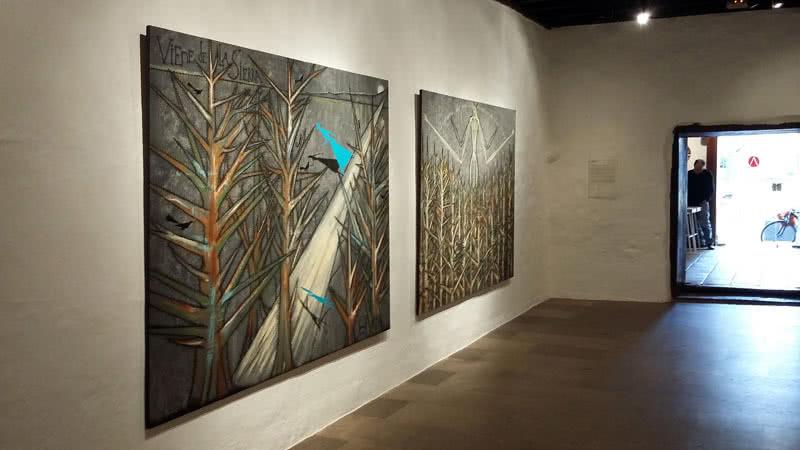 José Bedia en la Galería Artizar.