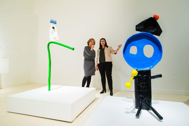 Vista de la exposición Miró y el objeto en CaixaForum Madrid.
