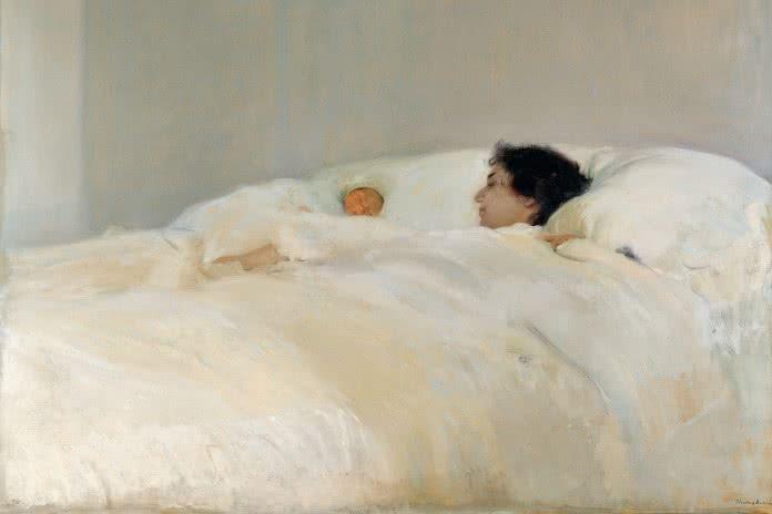 Joaquín Sorolla, Mutter, 1895–1900, Öl auf Leinwand, 125 x 169 cm, Madrid, Museo Sorolla, Inv.-Nr. 324.