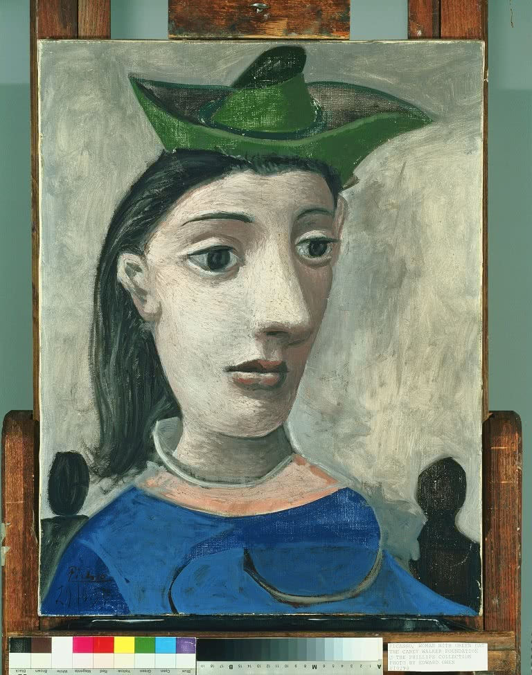 Pablo Picasso, Mujer con sombrero verde, 1939. The Phillips Collection, Washington DC. © Sucesión Pablo Picasso, VEGAP, Madrid, 2016.