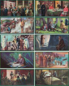 Colección de cromos: La vida de Cervantes, años 40-50.