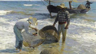 Joaquín Sorolla, Valencianische Fischer, 1895, Öl auf Leinwand, 65 x 87 cm, Sammlung Broere Charitable Foundation.