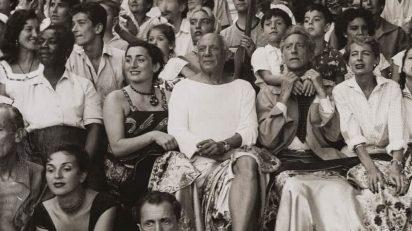 Jan Adam Stevens. Pablo Picasso en los toros. Vallauris, agosto de 1955. Museu Picasso, Barcelona. © Sucesión Pablo Picasso, VEGAP, Madrid 2016.