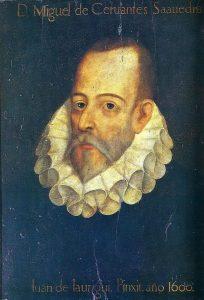 Juan de Jáuregui. Retrato de Cervantes.