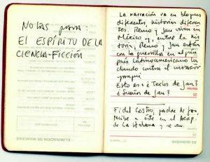 Roberto Bolaño. Cuaderno de notas.