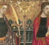 Lluís Borrassà, Compartimentos de predela con Santa Catalina de Alejandría y Jesucristo.