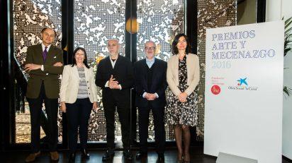 Galardonados en los Premios Arte y Mecenazgo 2016: Carlos León, la galería Guillermo de Osma y el Archivo Lafuente de Santander.