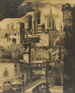© Pere Català Pic. Fotomontaje sobre el Barrio Gótico para la Sociedad de Atracción de Forasteros de Barcelona, 1935. Arxiu Fotogràfic de Barcelona.