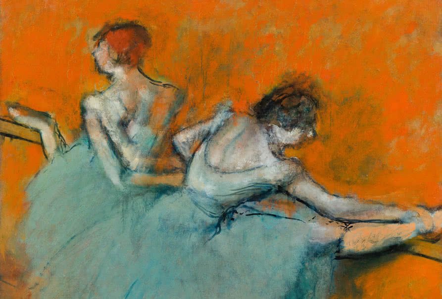 Edgar Degas (1834–1917), Bailarinas en la barra, ca. 1900. The Phillips Collection, Washington D.C.