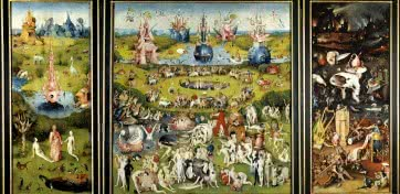 El Bosco. Tríptico del jardín de las delicias, 1490-1500.