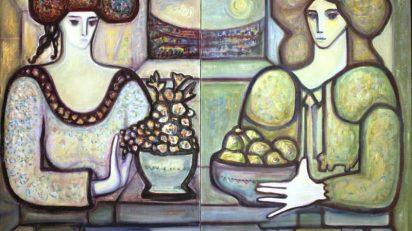 Miguel Herrero. Géminis, 1987. 130 x 190 cm. óleo sobre lienzo.