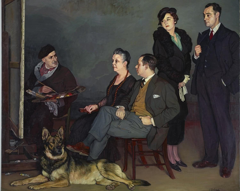 Ignacio Zuloaga. Mi familia, 1937.