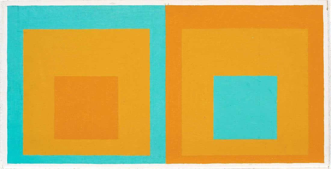 Josef Albers. Double Homage to the Square, 1957.