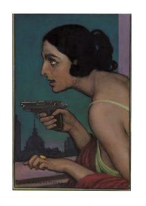 'Mujer con pistola', de Julio Romero de Torres.