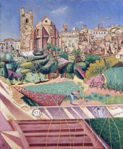 Joan Miró. Mont-roig, la iglesia y el pueblo, 1919.