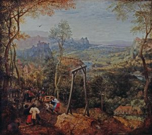 Pieter Brueghel. La urraca sobre el cadalso.