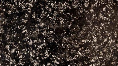 "Franz Weissmann. Sin título. c. 1962-1964. Tinta sobre cartulina. Firmado: ""F.W.""(parte. inf. dcha.). 65 x 50 cm."