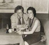 Alberto Giacometti y Caroline.