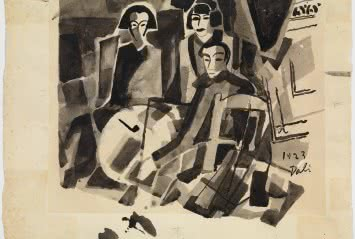 Salvador Dalí y Maruja Mallo en el Café de Oriente, 1923.