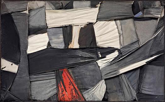 Salvatore Scarpitta. Trapped Canvas [Lienzo atrapado], 1958. Fondation Gandur pour l'Art, Ginebra. © Fondation Gandur pour l'Art, Ginebra. Foto: Sandra Pointet.
