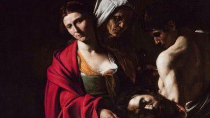Salomé con la cabeza del Bautista, (1606-1607). Michelangelo Merisi da Caravaggio (1571-1610). Palacio Real de Madrid.