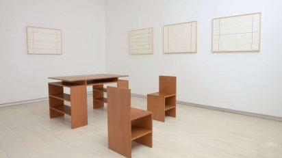 Exposición de Donald Judd. ©Cuauhtli Gutiérrez, Cortesía de Galería Elvira González.