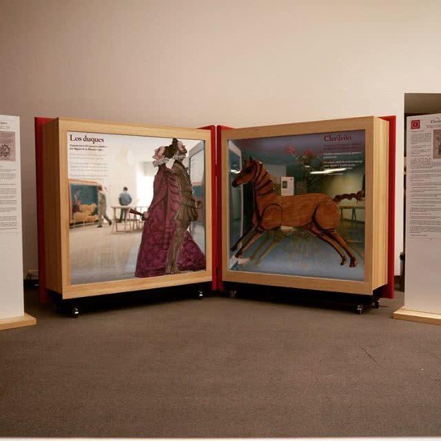 Exposición '16 personajes que maravillan y... Miguel de Cervantes'.