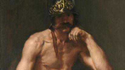 Diego Rodríguez de Silva y Velázquez. Marte (detalle). Hacia 1638. Museo Nacional del Prado.