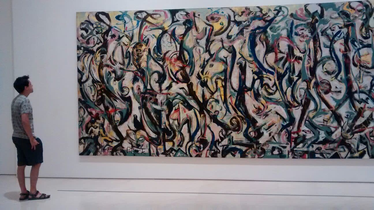 "Exposicion ""Mural. Jackson Pollock. La energia hecha visible"""