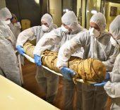 Traslado momias del MAN a Quirónsalud. Foto: RTVE, Raul Tejedor.