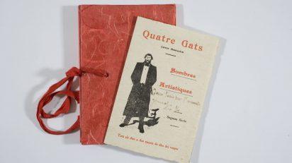 1 / 3 Ramon Casas. Invitación para la sesión de sombras chinas en Els Quatre Gats. Biblioteca Joaquim Folch i Torres.