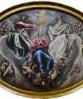 la coronacion de la Virgen. Año 1603-1605.  Óleo sobre lienzo. Medidas 163 x 220 cm