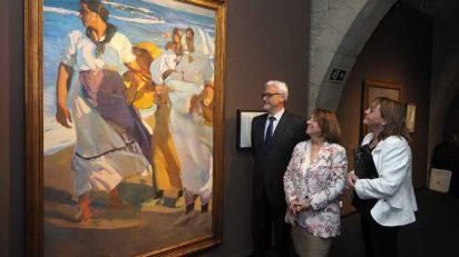 Presentación de la exposición 'Sorolla. Apuntes en la Arena' en CaixaForum Girona. Foto: PERE DURAN / NORD MEDIA.
