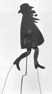 Diseño de Ramon Casas y realización de Josep Meifrèn, Maurici Vilomara. Sombras chinas para teatro. Els Quatre Gats, hacia 1897-1898.