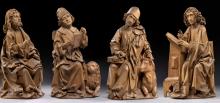Tilman Riemenschneider (Heiligenstadt, c. 1460 - Wurzburgo, 1531). Evangelistas (predela del retablo de Münnerstadt). 1490-1492. Madera de tilo. Bode-Museum, Berlín.