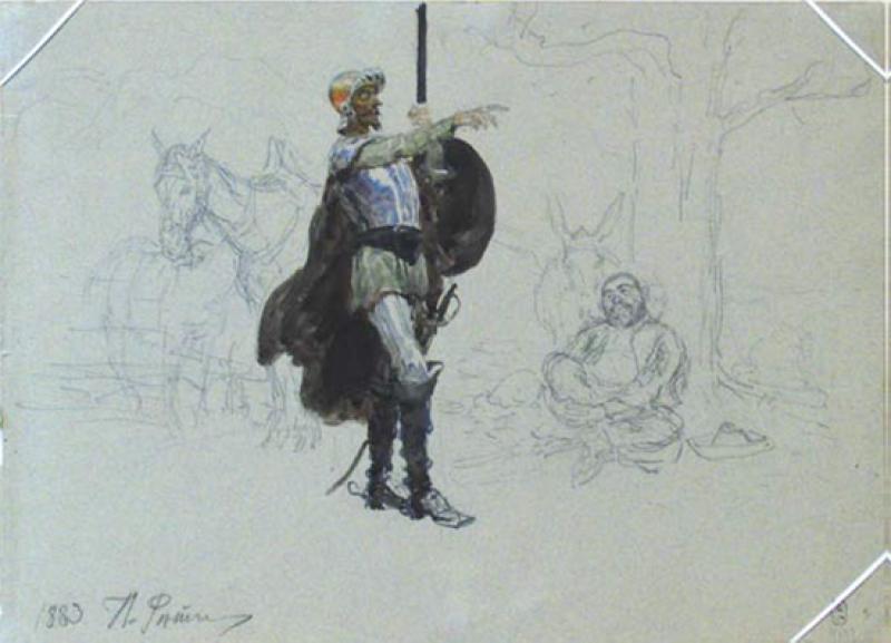 Ilya Repin. Don Quijote y Sancho Panza, 1883.