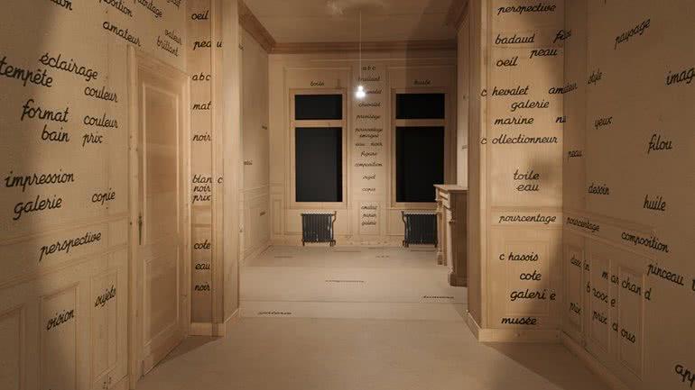 Marcel Broodthaers. La Salle blanche (La sala blanca), 1975.