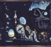Salvador Dalí. Uranium and Atomica Melancholica Idyll (Idilio atómico y uránico melancólico). 1945. Museo Nacional Centro de Arte Reina Sofía.
