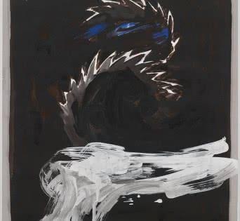 Serruchos circulares (tema vegetal sobre fons oscuro) 1987. Col·lecció MACBA. Consorci MACBA. Donació Fundación Almela-Solsona.