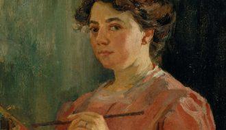 Lluïsa Vidal, 'Autoretrato' (detalle), 1899.