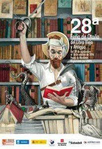 Fernando Vicente. Cartel Feria de Otoño del Libro Viejo y Antiguo.