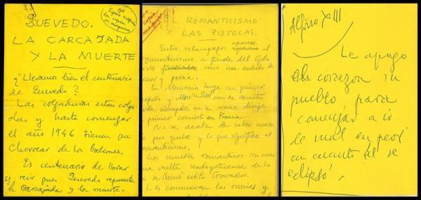 Documentos de Ramón Gómez de la Serna.