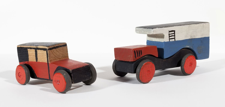 Joaquín Torres-García. Coche rojo y camión lechero, 1917-19.