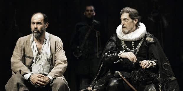 Joaquín Notario y José Luis Santos en El alcalde de Zalamea. Compañía Nacional de Teatro Clásico.