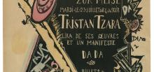 Marcel Janco: Mouvement DADA. Zur Meise, Tristan Tzara lira de ses oeuvres et un manifeste DADA, [Zúrich], [1918].