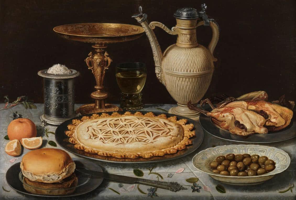 Clara Peeters. Mesa, 1611. Museo del Prado.